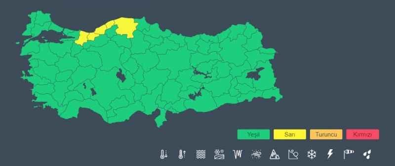 Meteoroloji'den Batı Karadeniz için sarı uyarı! Akşam saatlerine dikkat