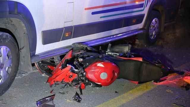 Muğla'da feci kaza! Motosiklet minibüsle çarpıştı