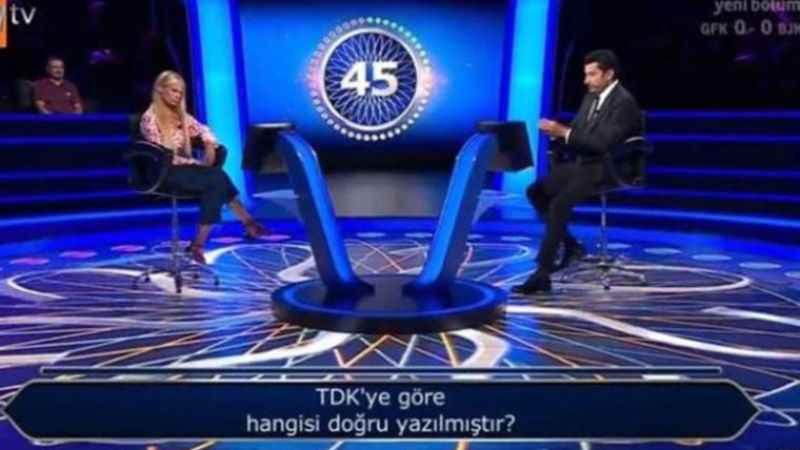 Milyoner'de sorulan TDK sorusu gündem oldu!