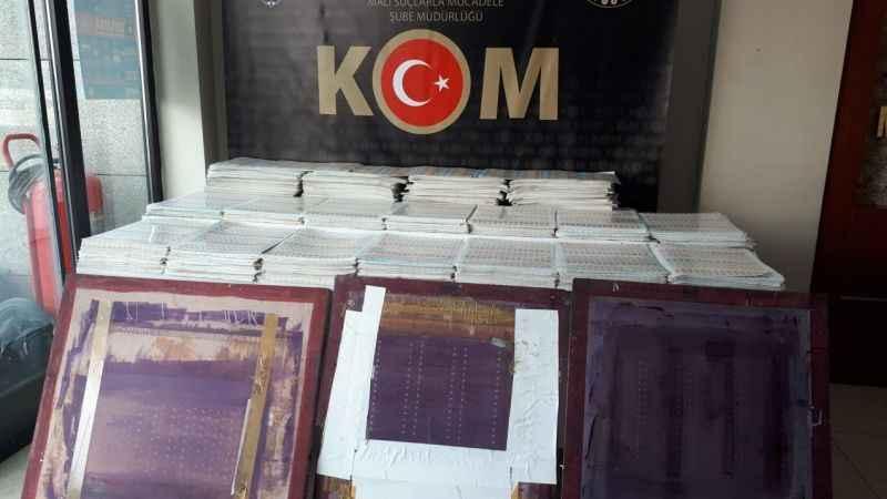 İstanbul'un Zeytinburnu ilçesindeki bir ticaret merkezinde basım atölyesi olarak faaliyet gösteren bir işyerinde çok sayıda sahte bandrol basıldığı be