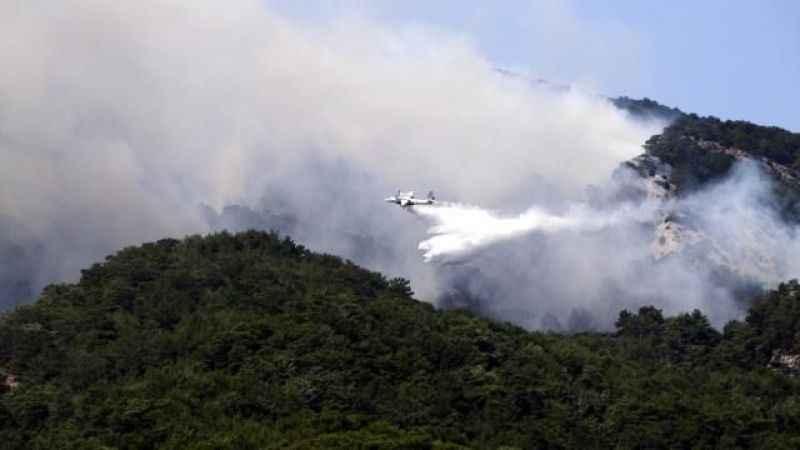 Kazdağları'ndaki yangın sürüyor! Havadan müdahale yeniden başladı