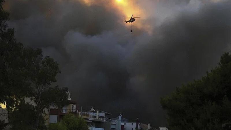 Yunanistan'da orman yangınları tekrar başladı!