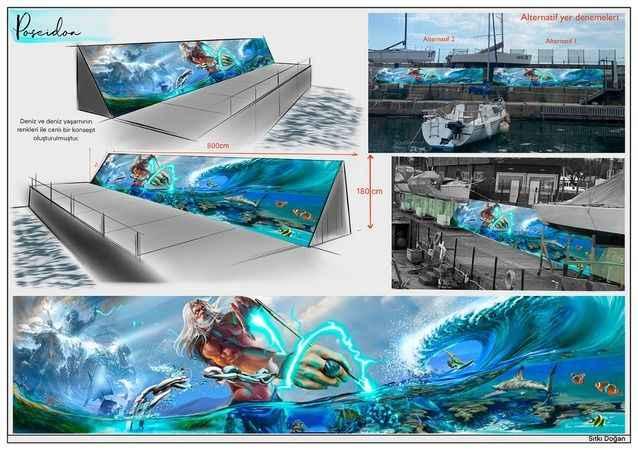 Denizcilik, yelken ve deniz çevre bilinci mural/graffiti yarışması