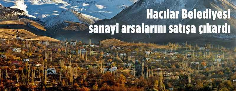Hacılar Belediyesinden satılık sanayi arsaları