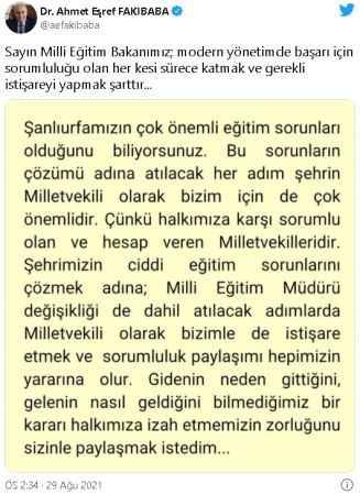 AKP'de kriz! O isimden Milli Eğitim Bakanı Mahmut Özer'e sert tepki
