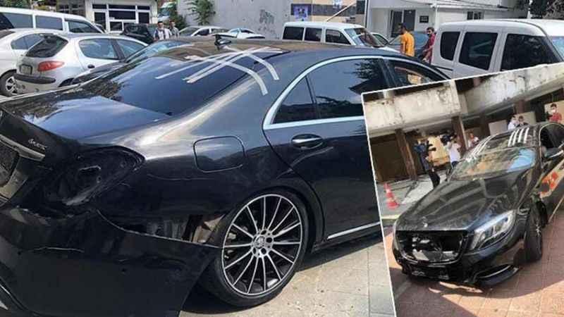 Beşiktaş Kulübü Başkanı'nın lüks aracını parçalarken yakalandılar