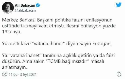 Babacan'dan hodri meydan: Bana masal anlatma Erdoğan