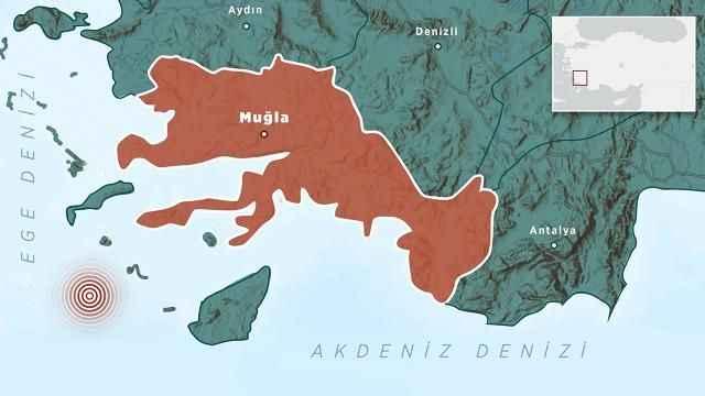 Son depremler: Datça açıklarında deprem...