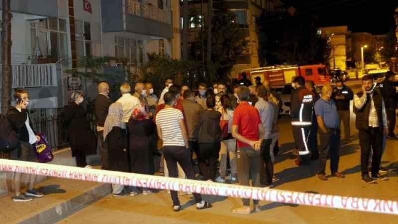 Başkentte kolonu patlayan 24 daireli bina boşaltıldı