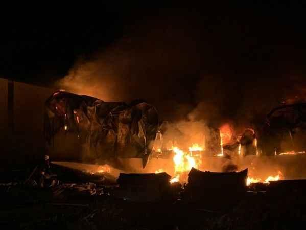 Konya'da plastik fabrikasında yangın