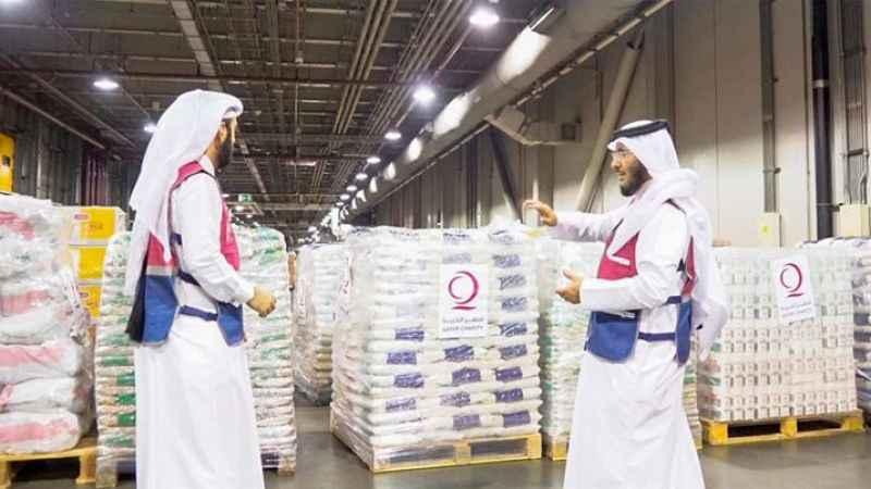 Katar, Taliban yönetimindeki Afganistan'a insani yardımda bulundu.  Qatar Fund for Development (QFFD) ve Qatar Charity tarafından sağlanan insani yard
