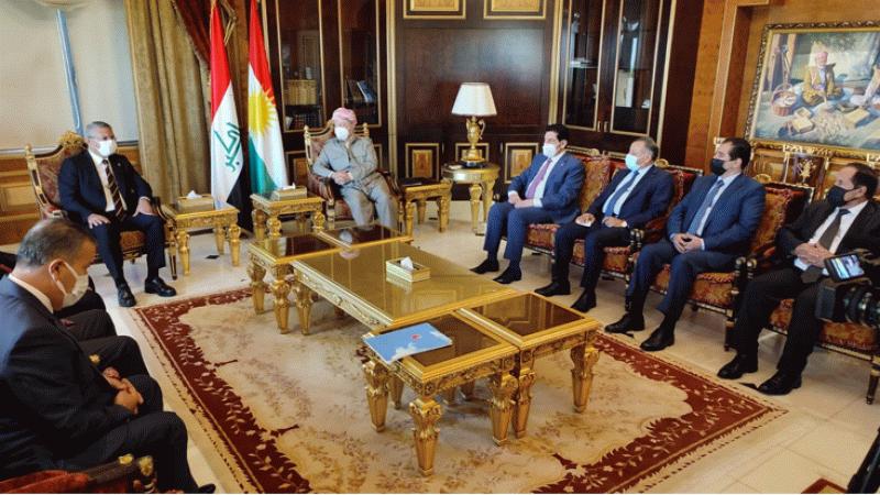 CHP heyeti Erbil'de Barzani ile görüştü