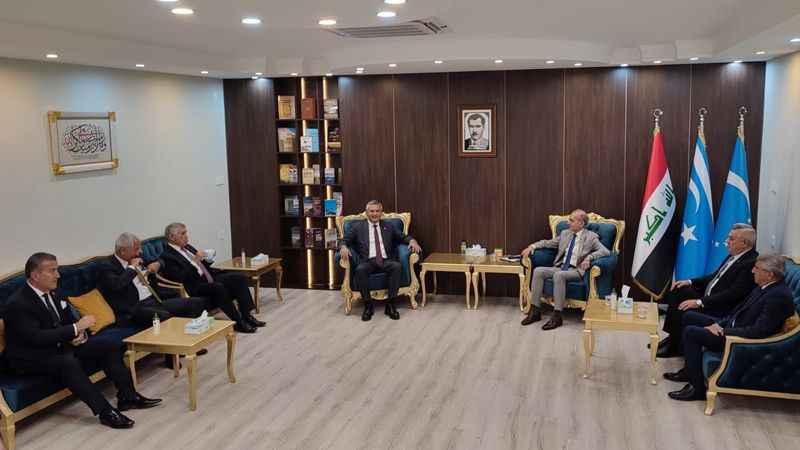 CHP heyeti, Irak Türkmen Cephesi'yle görüştü
