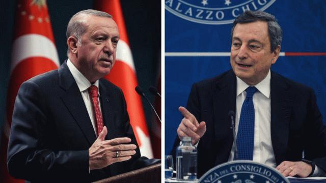 Erdoğan ile İtalya Başbakanı Draghi arasında kritik görüşme