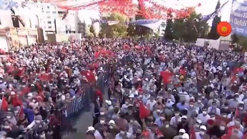 Bu kare çok konuşulacak! Erdoğan'ın mitingi boş kaldı
