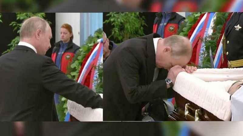 Putin tabuta sarılıp hüngür hüngür ağladı!