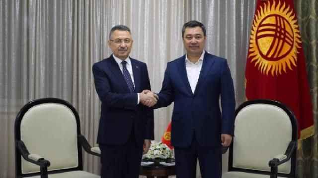 Fuat Oktay Kırgızistan Cumhurbaşkanı Caparov ile görüştü