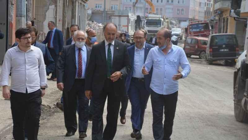 Saadet heyeti Bozkurt'ta incelemelerde bulundu
