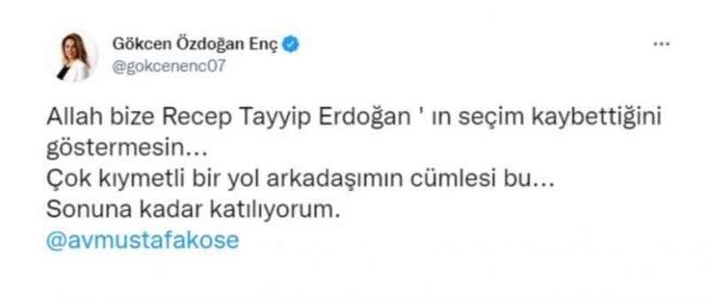 AKP'li isimden kulisleri sallayan Erdoğan paylaşımı!