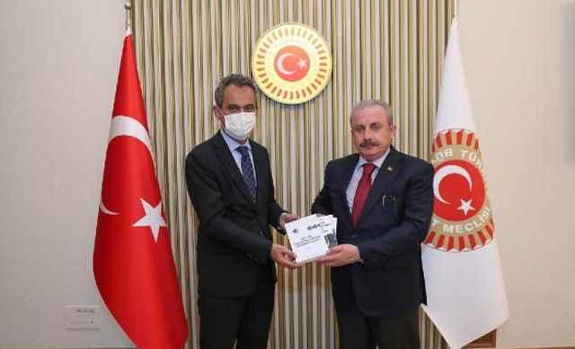 TBMM Başkanı Şentop, Milli Eğitim Bakanı Özer'i kabul etti