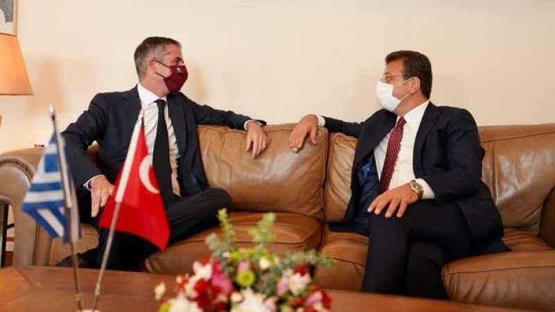 İBB Başkanı Ekrem İmamoğlu, Atina'da konuştu: Çözülemeyecek sorun yok