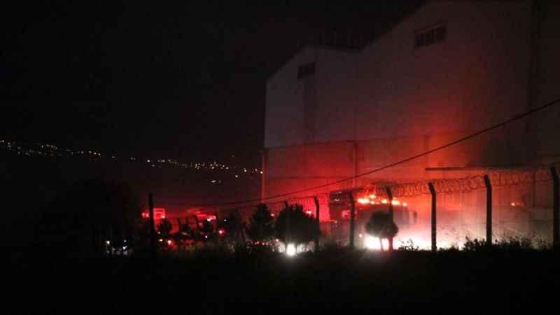 Kahramanmaraş'ta iplik fabrikası alev alev yandı