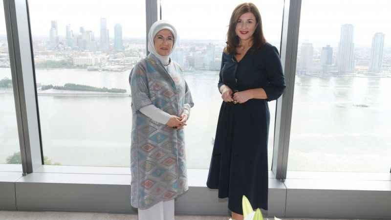 Emine Erdoğan, Hırvatistan First Lady'si ile bir araya geldi
