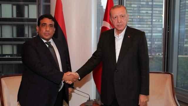 Erdoğan Libya Başkanlık Konseyi Başkanı el-Menfi ile görüştü