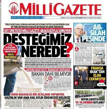 Millî Gazete'nin çağrıları yankı buluyor… Manşetten Meclis'e