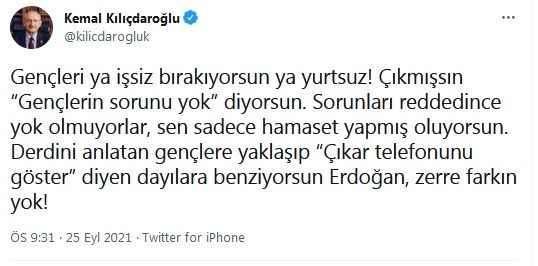 Erdoğan'a olay yanıt: Çıkar telefonunu göster diyen dayıya benziyorsun