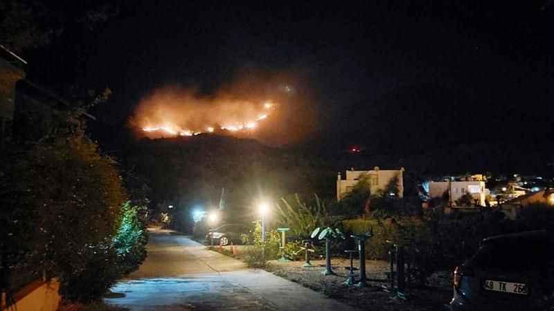 Bir yangın haberi de Bodrum'dan! Otluk ve makilik alanda yangın