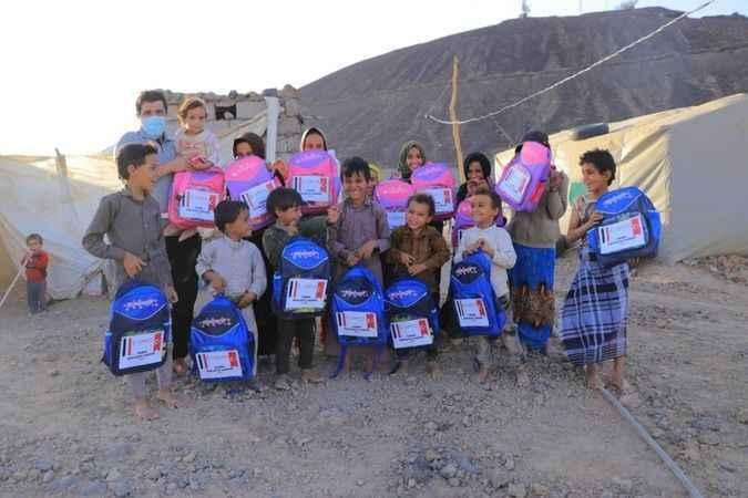 Cansuyu'ndan Yemen'e kırtasiye yardımı