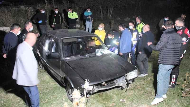 Polisten kaçan sürücü, kaza yaptı! Başından vurulmuş halde bulundu