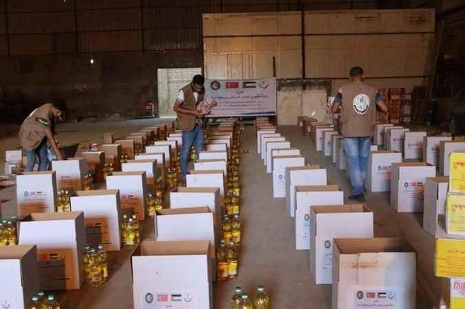 Yüzlerce ailenin gıda ihtiyacı karşılandı