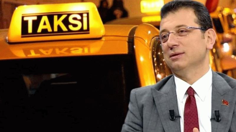 İmamoğlu sosyal medyada paylaştı: Taksi ağalığı bitecek