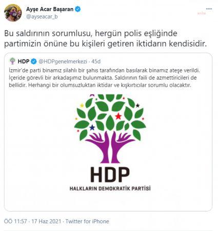 """HDP İZMİR İL BİNASINA SİLAHLI SALDIRIYA HDP'Lİ VEKİLLERDEN TEPKİ: """"İKTİDAR, BU SALDIRILARIN SORUMLUSUDUR"""""""
