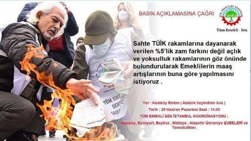 EMEKLİLER KADIKÖY'DE EYLEM YAPMAYA HAZIRLANIYOR