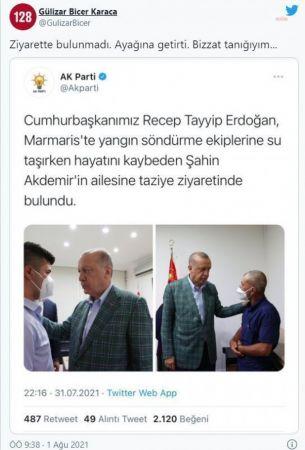 "CHP'Lİ KARACA'DAN ERDOĞAN'A TAZİYE TEPKİSİ: ""ACILI ANA BABA AYAĞA ÇAĞRILMAZ!"""
