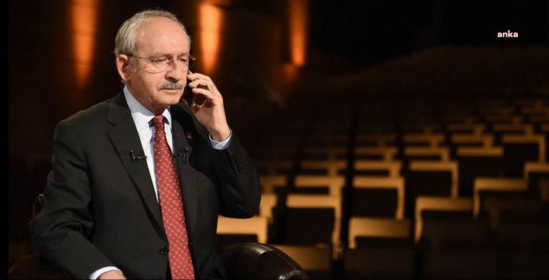 KILIÇDAROĞLU'NDAN, ANKA VE KRT TV YÖNETİM KURULU BAŞKANI ATABAŞ'A GEÇMİŞ OLSUN TELEFONU