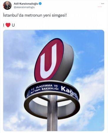 """İBB'DEN BAKAN KARAİSMAİLOĞLU'NA YANIT: """"İSTANBUL'DA METRONUN SİMGESİ 1992'DEN BERİ 'M'DİR"""""""