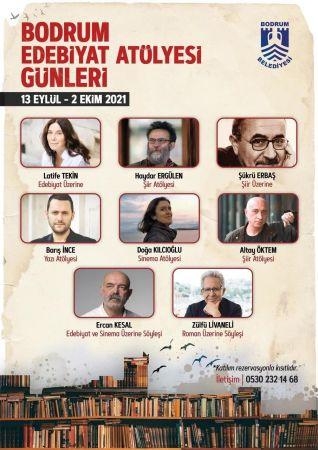 """""""BODRUM EDEBİYAT ATÖLYESİ GÜNLERİ"""" USTALARI AĞIRLAYACAK"""