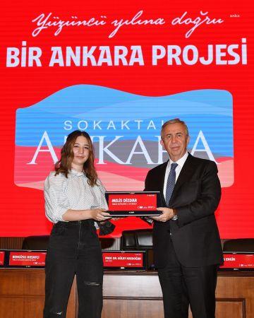 """""""BİR ANKARA PROJESİ: SOKAKTAKİ ANKARA""""NIN KAZANANLARINA ÖDÜLLERİ VERİLDİ"""