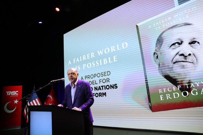 CUMHURBAŞKANI ERDOĞAN NEW YORK'TA KİTABINI TANITTI