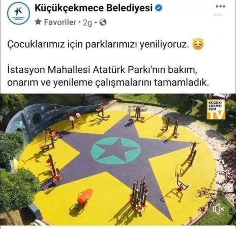 """YENİLENEN ÇOCUK PARKI'NDAKİ GÖRSELLERİN """"PKK/KCK SEMBOLLERİNİ ANDIRDIĞI"""" GEREKÇESİYLE YARGILANAN SANIKLARIN 7,5 YILA KADAR HAPSİ İSTENDİ"""