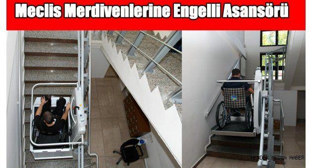 Meclis Merdivenlerine Engelli Asansörü