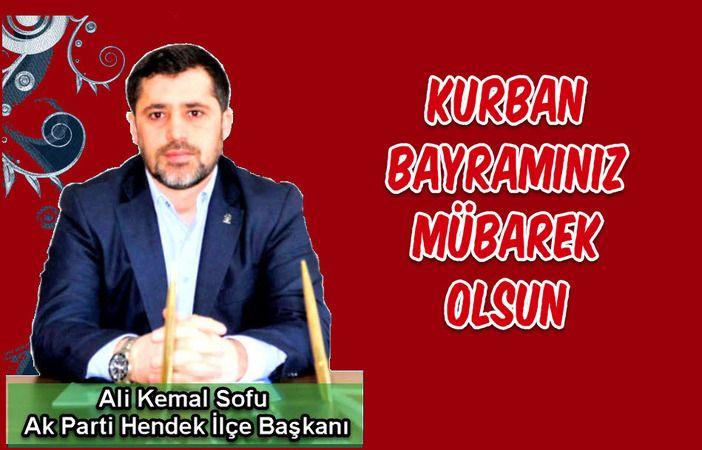 Sofu Kurban Bayramı kutlama mesajı yayınladı