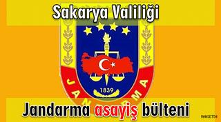 Sakarya İl Jandarma Komutanlığı 13-14 Kasım 2018  asayiş olayları