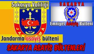 Sakarya Jandarma ve  Emniyet Asayiş Bültenleri 12-13-14-15 Nisan  2019