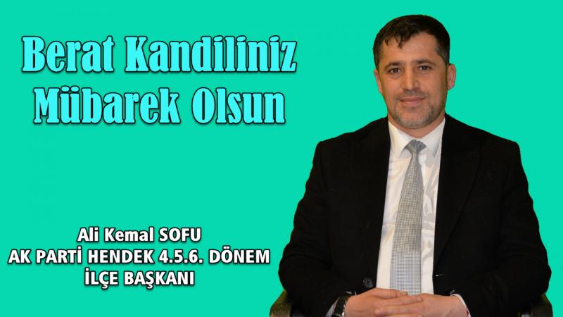 Ali Kemal SOFU Berat kandilini kutladı