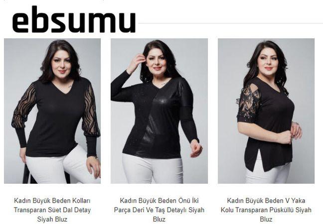 Büyük Beden Şifon Bluz Modelleri Sizlerle